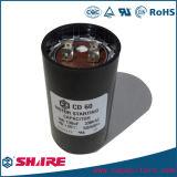 CD60, condensador electrolítico de aluminio; Condensadores de la película de poliester; A través del orificio