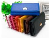 Sac à main PU Femmes Simple Wallet Trois Folds Verrouiller PU Wallet