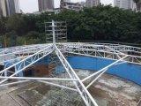Q235 шатер циркуляра Pemanent крышки стальной структуры PVDF