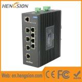 8 Schakelaar van Tx en de Industriële van het Netwerk Ethernet van 2 Havens Fx