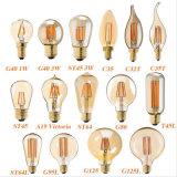 vendimia del bulbo St64 del filamento de 4W 6W 8W Edison LED