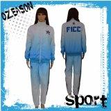 Пустые Tracksuits гимнастики полиэфира продают куртку Tracksuit/кальсоны оптом (TJ008)