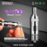 La bobina doppia G-Ha colpito K3 la penna del vaporizzatore della spremuta del vaporizzatore G5 di Seego per olio