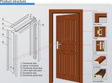 Двери комнаты PVC деревянные