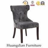 Подгонянный бархат кнопки мебели трактира Tufted обедая стул (HD463)