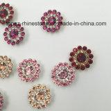 Установка когтя цветка 2017 новая кристаллов оптовой продажи 9mm свободная Swaro прибытия шьет на стеклянных бусинах (fuchsia TP-9mm круглый)
