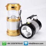 Linterna que acampa al aire libre de la linterna solar solar de la lámpara que acampa