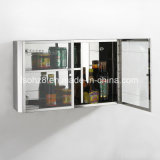 Кухонный шкаф шкафа хранения ванной комнаты мебели нержавеющей стали стекло Ymt7049 ясности 5 слоев