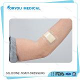 Espuma do silicone da beira da limpeza de ferida que veste o Ce FDA