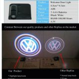 A luz de porta DIY do diodo emissor de luz do carro, rádio, nenhum furo de broca, nenhum coneta o fio, luz bem-vinda do diodo emissor de luz da porta de carro, fantasma do diodo emissor de luz