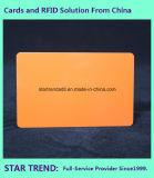 Lege Plastic Oranje Kaart van Cr80/30mil voor de Voorraad van de Detailhandelaar