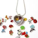 Locket flotante en forma de corazón de los encantos de la joyería 30m m de la manera