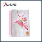 Brilhante papel revestido laminado Sleeping Baby Shopping Gift Paper Bag