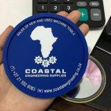 Coaster Eco-Friendly macio gravado personalizado do copo do PVC da borracha do logotipo 3D
