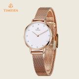 贅沢なステンレス鋼の腕時計の女性の水晶は71129を見る