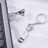 금속 예술 아름다움 소녀 USB 섬광 드라이브에 주문 로고