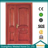 Porte en bois solide pour le famille et hôtel avec la qualité (WDXW-011)