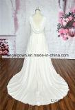 Vestidos nupciais Chiffon da benevolência Ivory