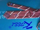 Cravate personnalisée par type de Dubaï Microfiber avec le logo tissé