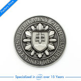 Pièce de monnaie de souvenir en métal de forme ronde de modèle de soldat