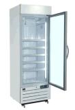 縦の単一のガラスドアのアイスクリームのためのアルミニウム戸枠が付いている直立した表示フリーザー