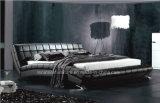 Самомоднейшая кожаный домашняя кровать мебели A059