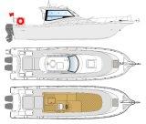 31ft YAMAHA Mesmo tipo de barco de pesca de cabine