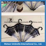 Зонтик новой ясности вычуры деталя прозрачный пластичный для сбывания