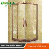 Recinto de la ducha del acero inoxidable de Onsen 304 con el vidrio Tempered