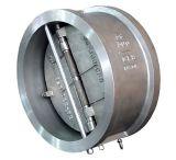Clapet anti-retour de disque duel de plaque d'acier inoxydable