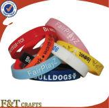 Handpreiswerter Allergie-justierbarer Silikonwristband-Gummiklaps-Armband