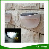 6 illuminazione solari esterne del piccolo del giardino del LED indicatore luminoso esterno solare della parete con il sensore di movimento