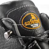 ベストセラーの黒い革安全靴S3 Src M-8183