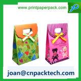Souvenir personnalisé de vente chaud s'enveloppant avec le sac de papier de noeud de guindineau