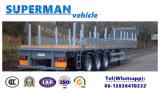 Dei 3 assi di carico di trasporto rimorchio resistente del camion semi con Palo per legno/carico