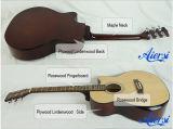 Guitarra acústica do corpo da madeira compensada de Aiersi OM com braço contínuo Sc01slcn-40