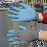 Nmsafety 13G Polyester Liner Coated Crinkle Latex Gardening Work Glove