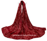 Ladyのための方法Soft Begonia Hijab Scarf Flower Printed Scarf