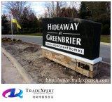 Panneau-réclame de granit de signe de route d'Outdoor Exhibition Company pour la personnalisation