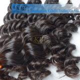 インドの深い波の人間の毛髪のよこ糸