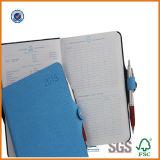 Cuaderno de cuero de la fábrica, cuaderno de encargo del diario de la alta calidad 2017 con la pluma