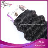 Cabelo humano da extensão brasileira do cabelo do Virgin