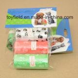 O saco Unscented plástico do tombadilho do cão Scented o saco Waste do animal de estimação