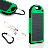 Cell Phoneのための5000のmAh二重USB Waterproof Solar PowerバンクBattery Charger