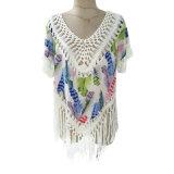 (L-002) - eleganza zingaresca di Boho del Hippie della parte superiore della camicia del Crochet della frangia delle signore
