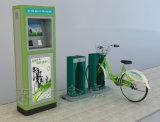 Sola columna ordinaria verde Bicicleta-Negruzca pública del doble del bloqueo del tubo de acero
