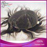 Toupees suisses de cheveu de lacet aérés par main de cheveux humains de pouce de 100%