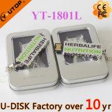 USB Pendrive (YT-1800L)를 미끄러지는 공장 도매 주문 로고