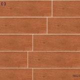 Azulejos del baño de grano de madera del piso de baldosas de cerámica para la construcción (T6509)