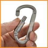 Gancho de acampamento Keychain da mola de alumínio do grampo de travamento do anel-D